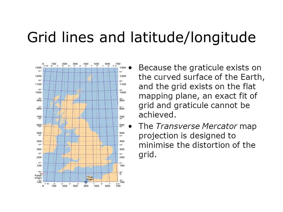 Grid lines and latitude/longitude