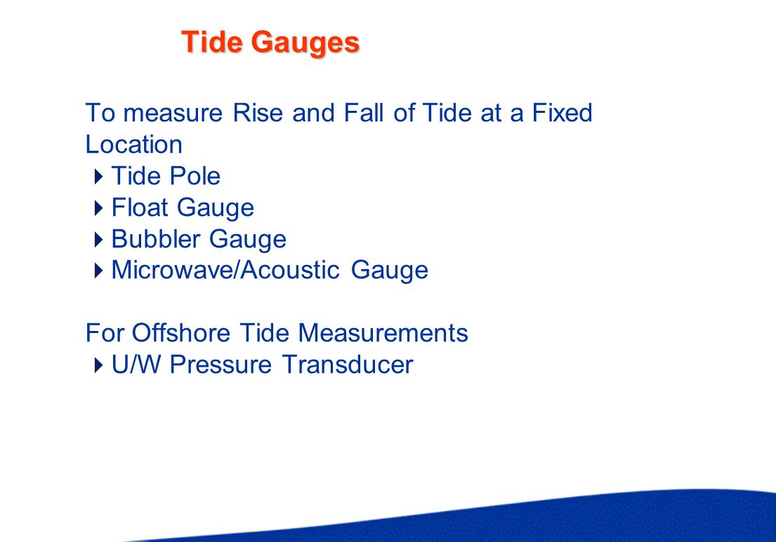 Tide Gauges UK National Network