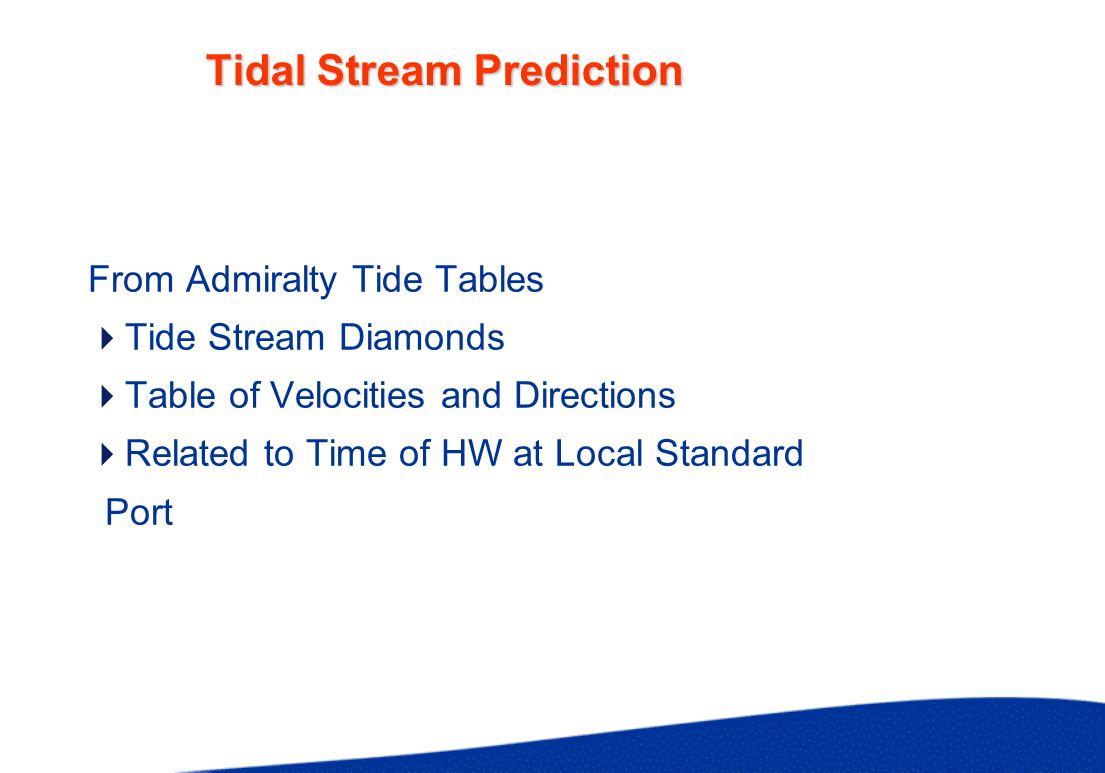 Tidal Stream Prediction Example