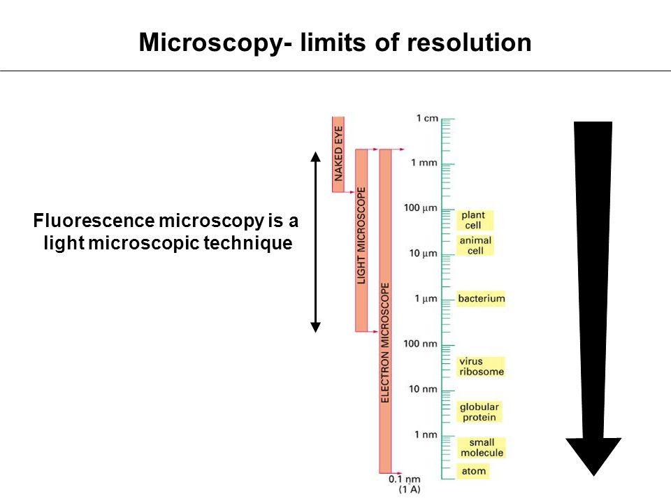 Microscopy- limits of resolution