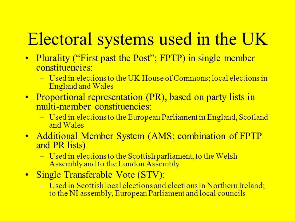 Multi-member constituencies in the Parliament of the United Kingdom