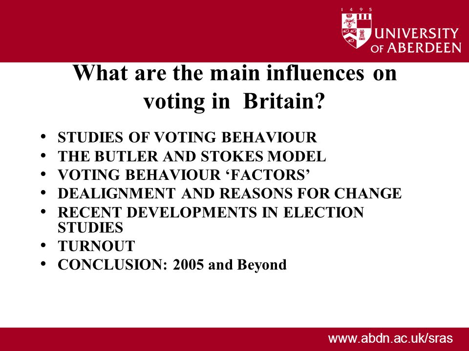 What are the main influences on voting in Britain