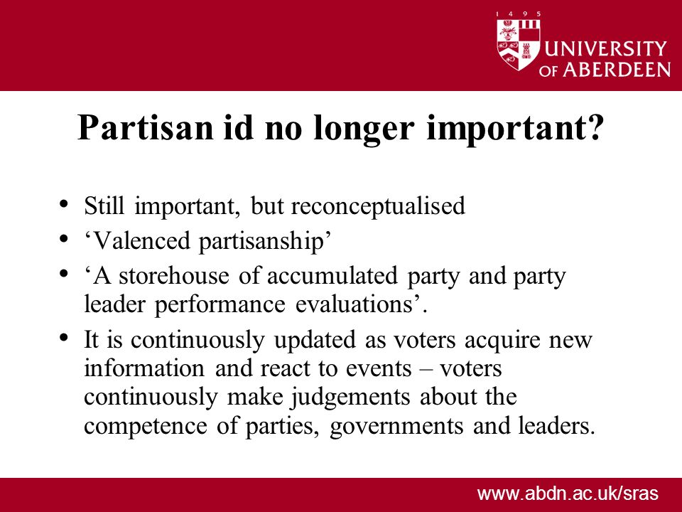 Partisan id no longer important