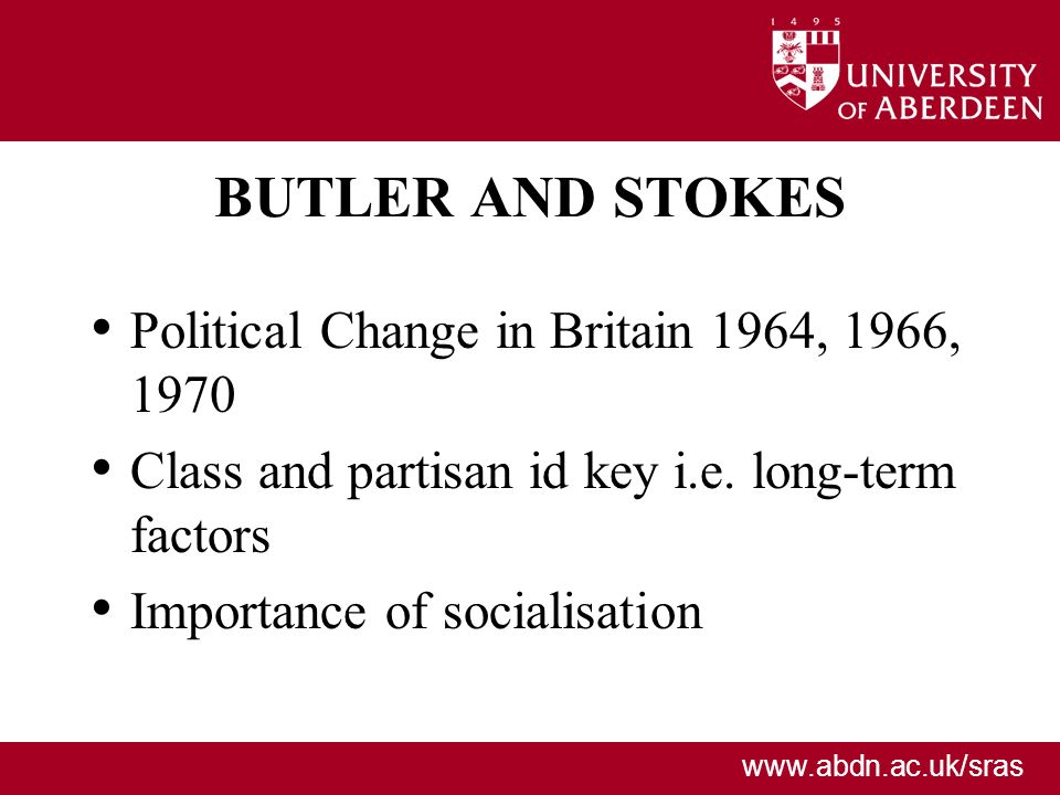 BUTLER AND STOKES Political Change in Britain 1964, 1966, 1970