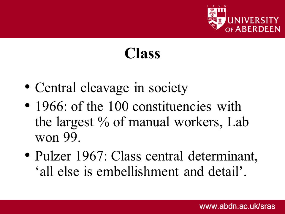 Class Central cleavage in society
