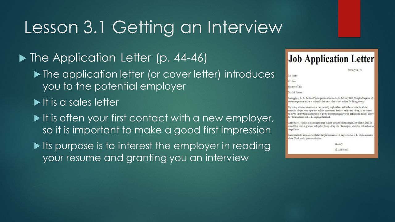 Chapter 3 Getting the job ppt