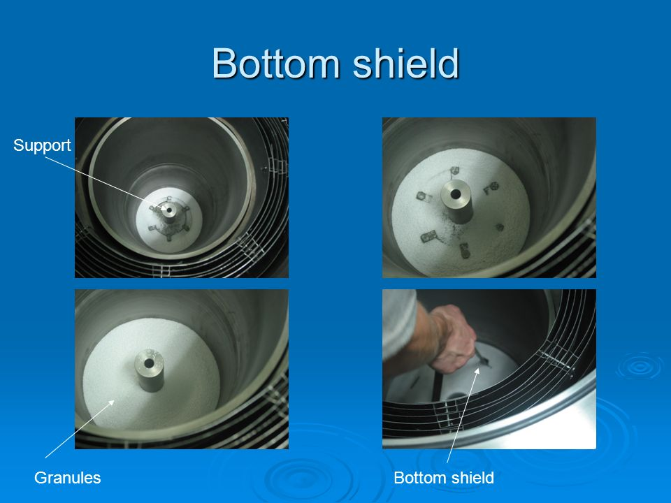 Bottom shield Support Granules Bottom shield