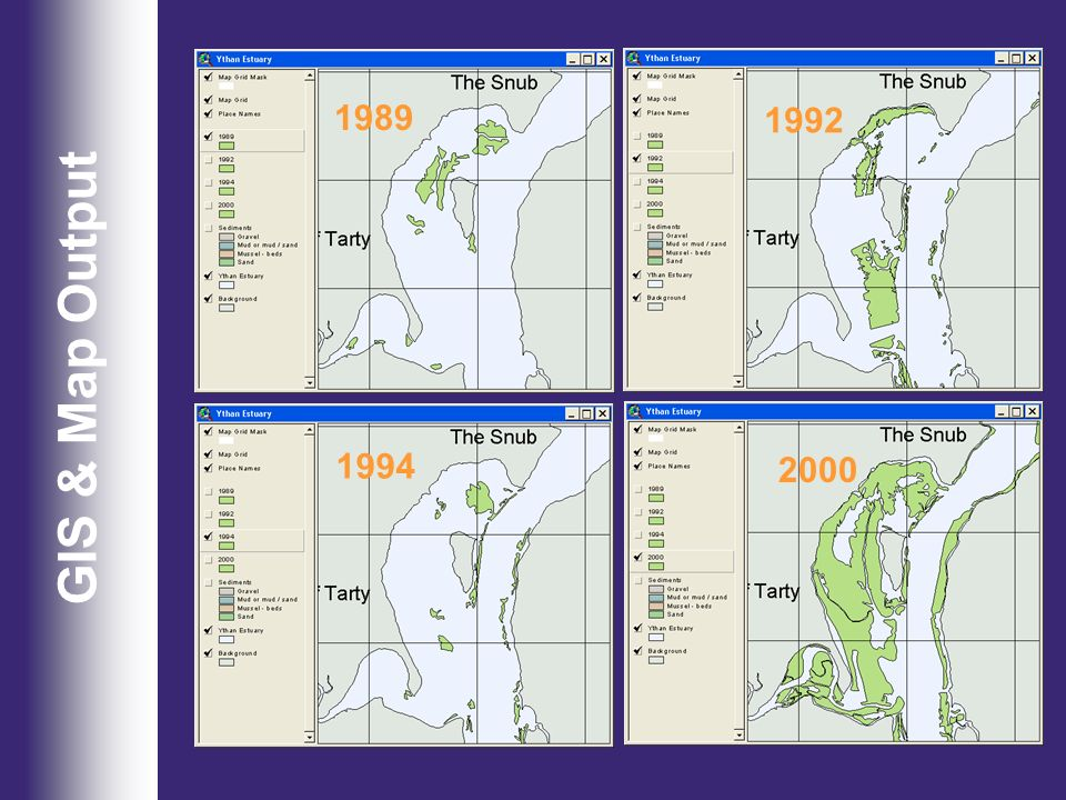 1989 1992 GIS & Map Output 1994 2000