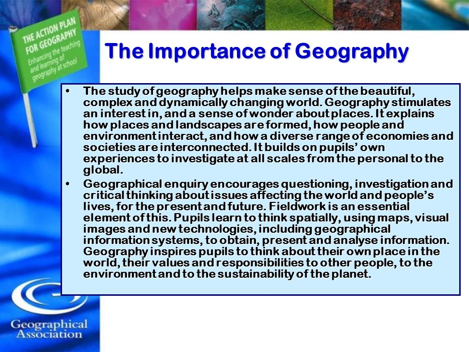 The Importance of Geography