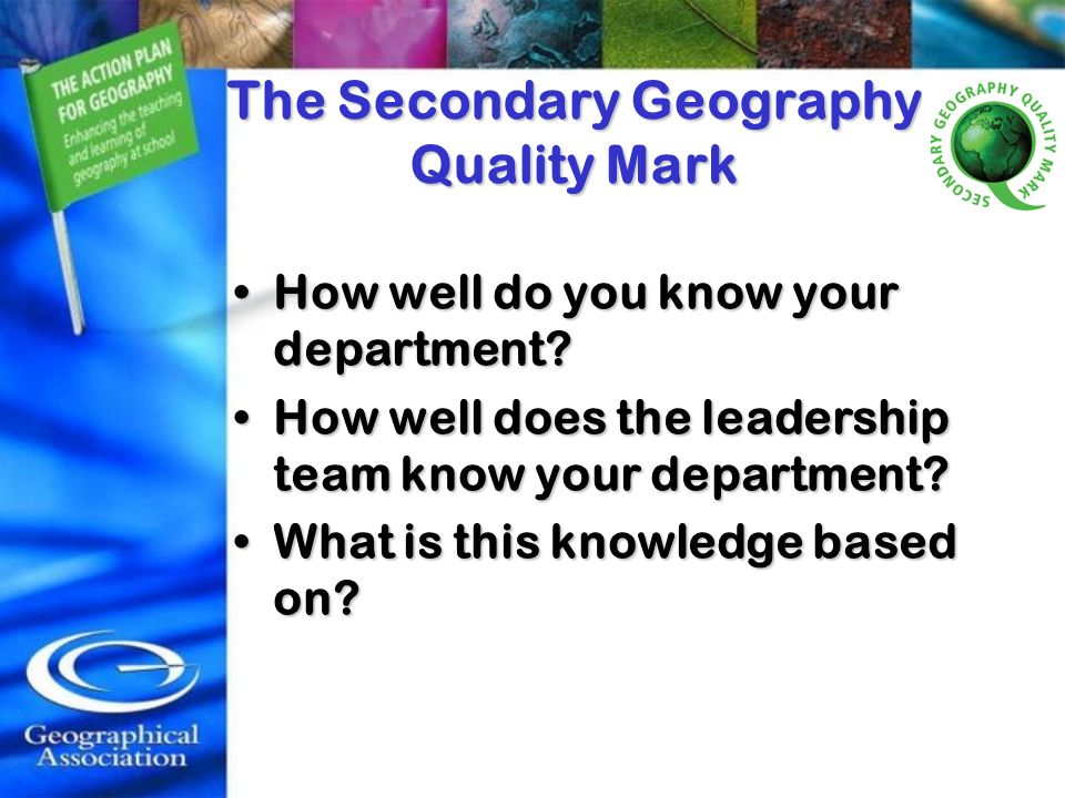 The Secondary Geography Quality Mark