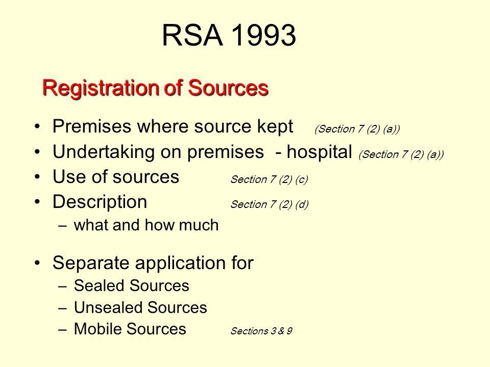 Registration of Sources