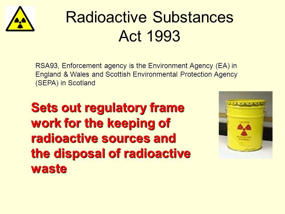 Radioactive Substances Act 1993