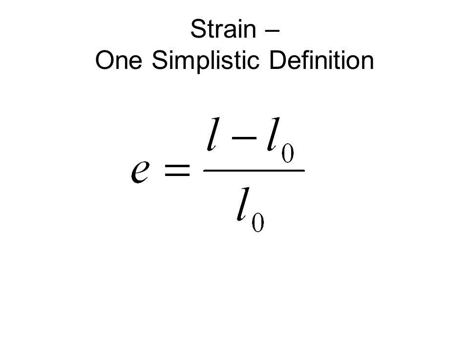 Strain – One Simplistic Definition