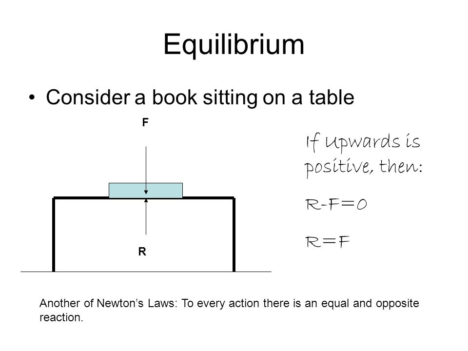 Equilibrium Consider a book sitting on a table