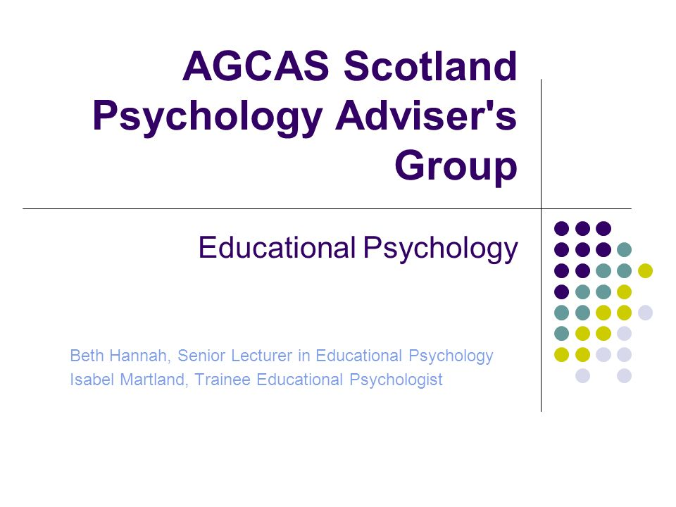 AGCAS Scotland Psychology Adviser s Group