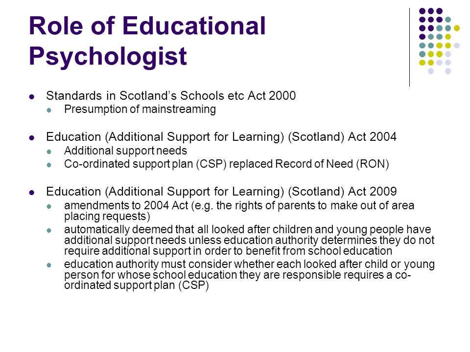 Role of Educational Psychologist