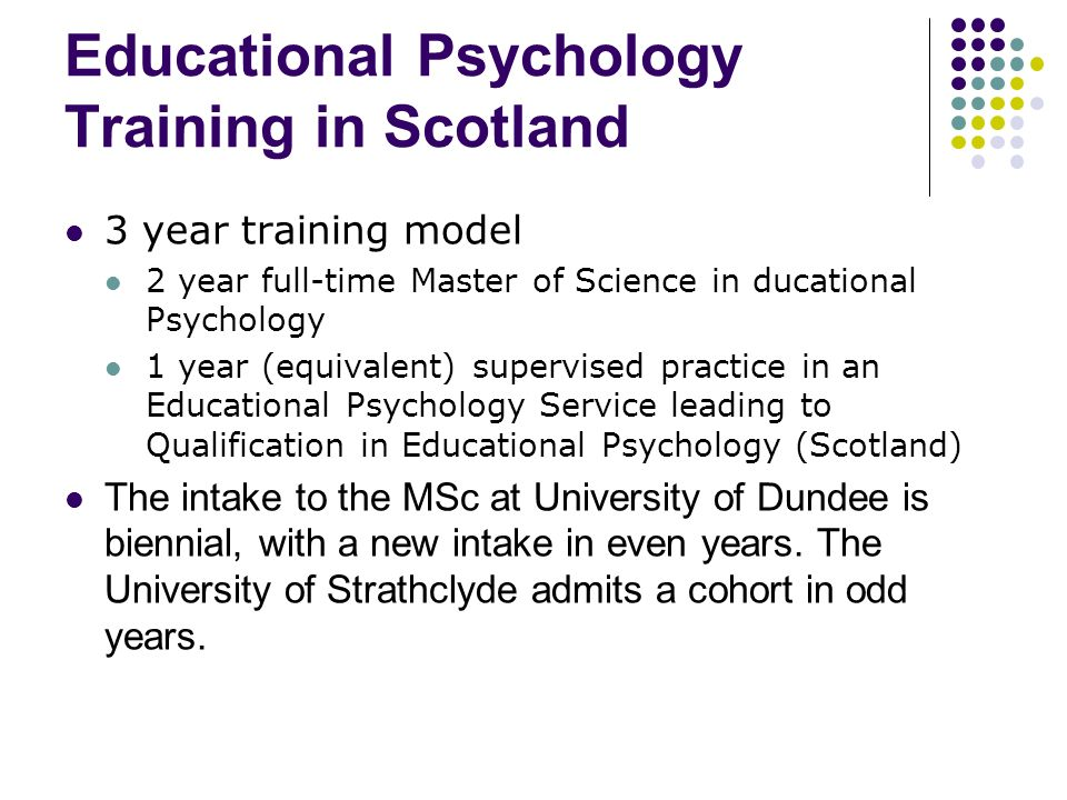 Educational Psychology Training in Scotland