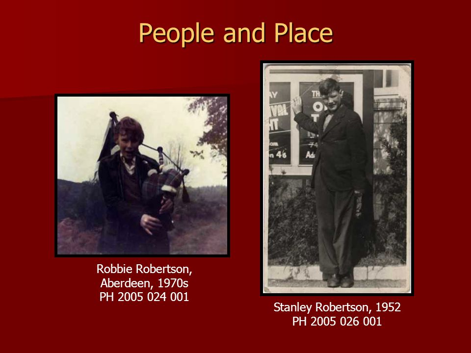 People and Place Robbie Robertson, Aberdeen, 1970s PH 2005 024 001
