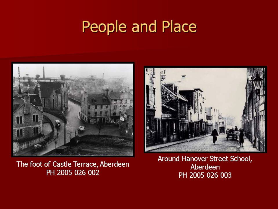 People and Place Around Hanover Street School, Aberdeen