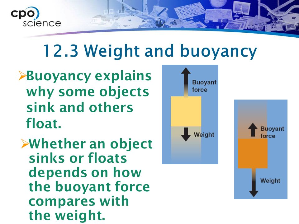 what is the relationship between buoyant force and depth
