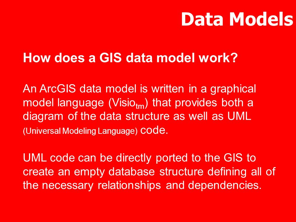 Data Models How does a GIS data model work