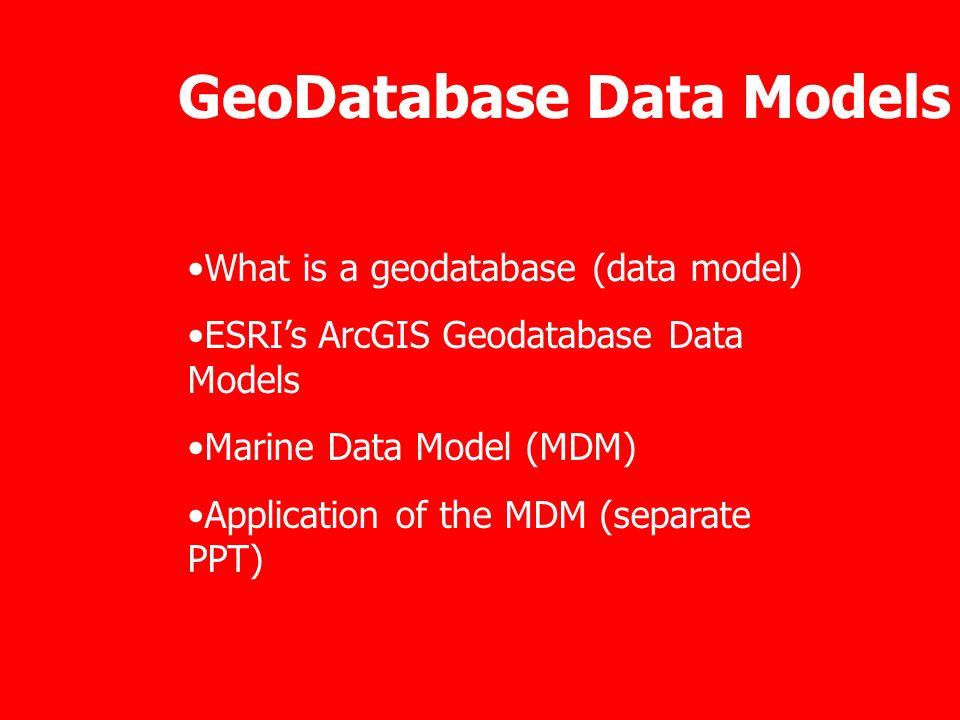 GeoDatabase Data Models