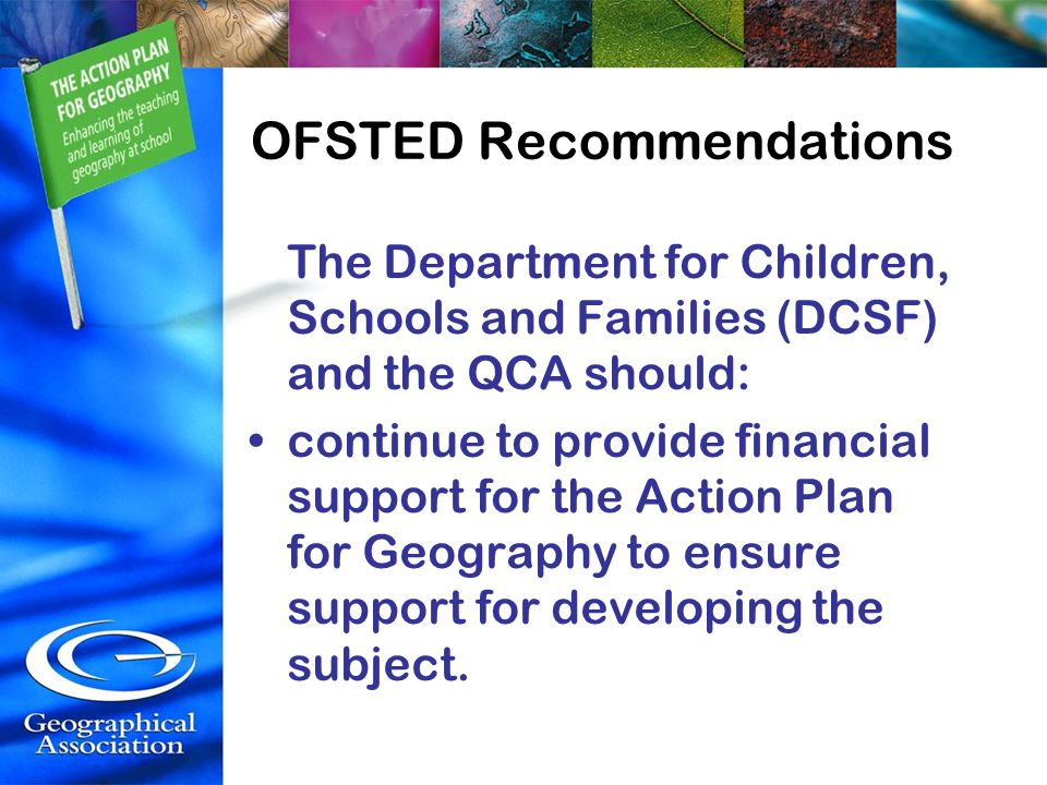 OFSTED Recommendations