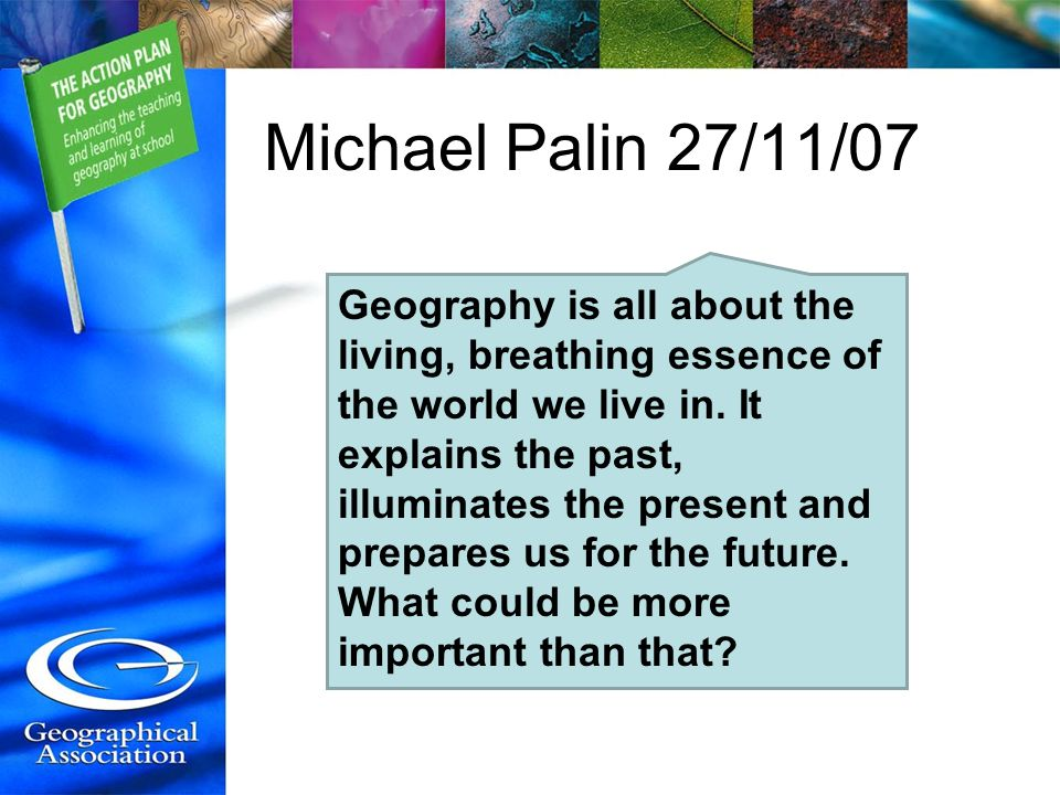 Michael Palin 27/11/07