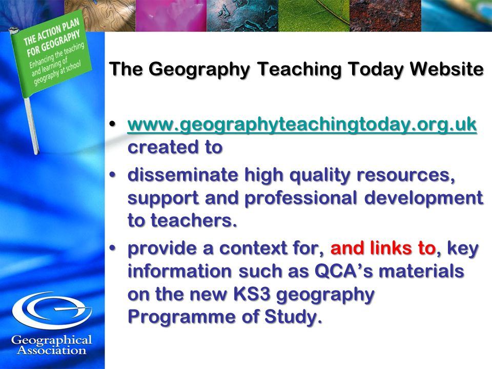 The Geography Teaching Today Website