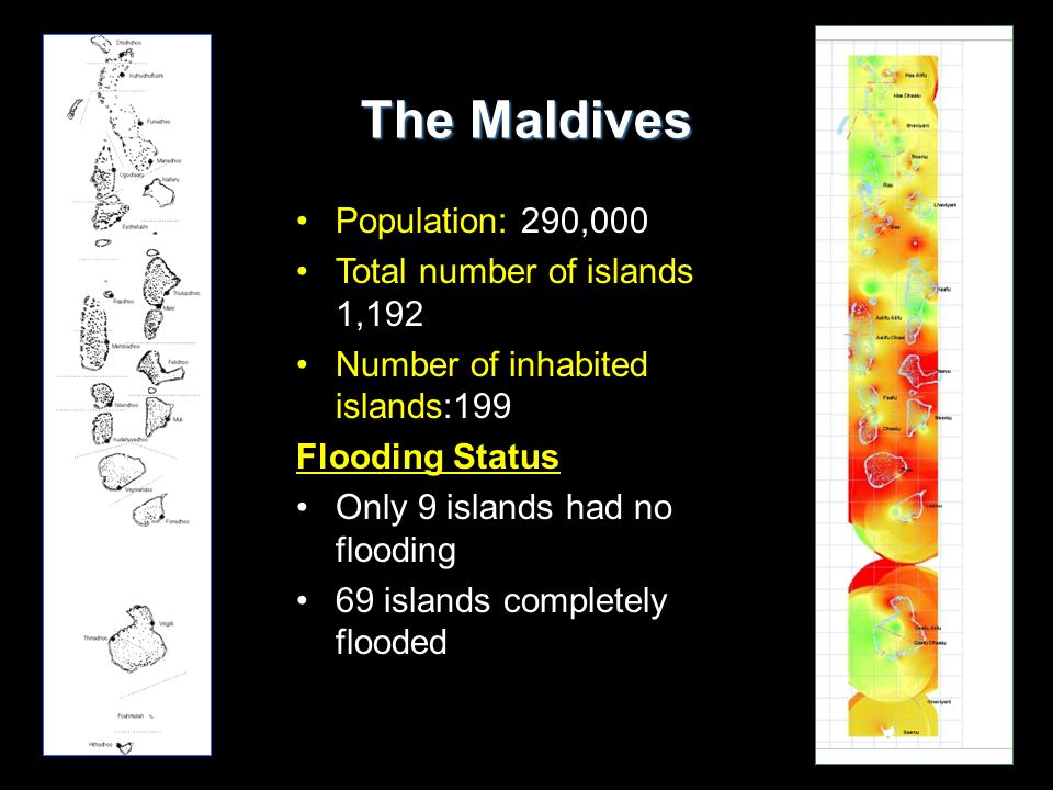 The Maldives Population: 290,000 Total number of islands 1,192