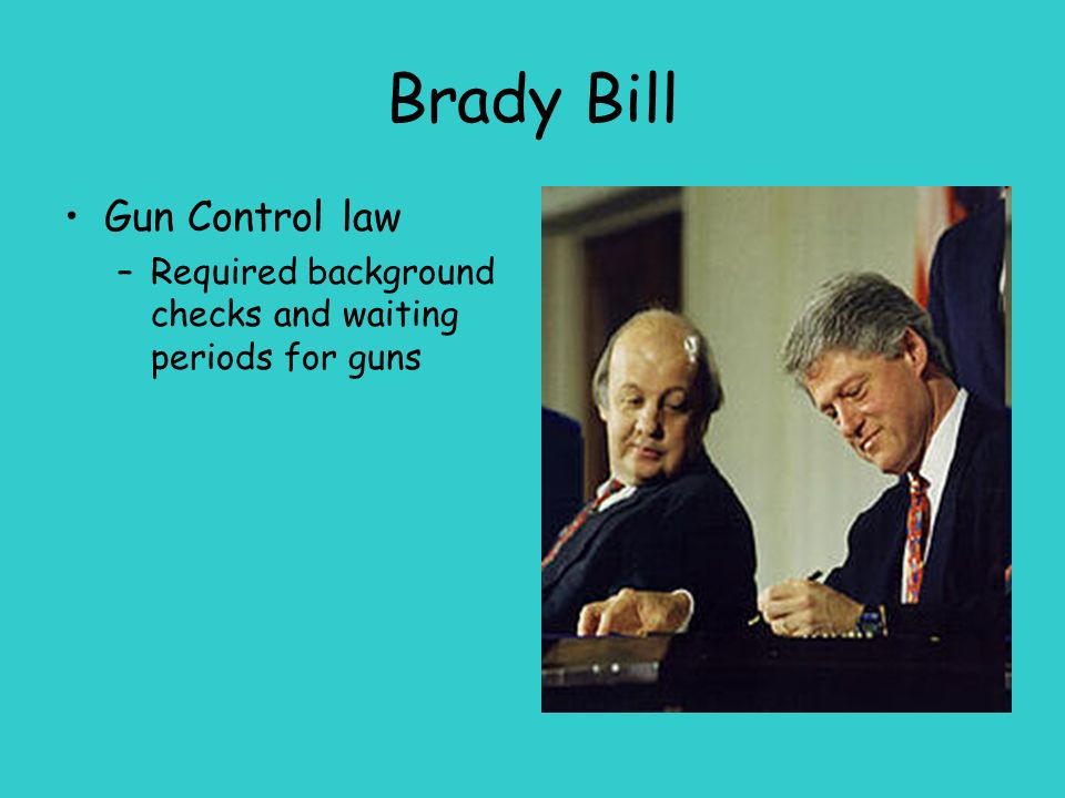 Firearm regulation and the brady bill