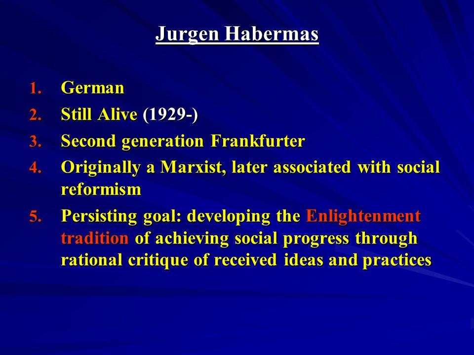 Jurgen Habermas German Still Alive (1929-)