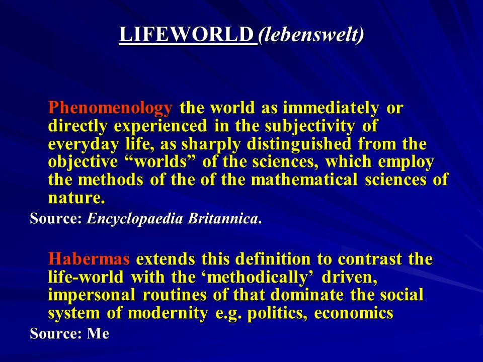 LIFEWORLD (lebenswelt)