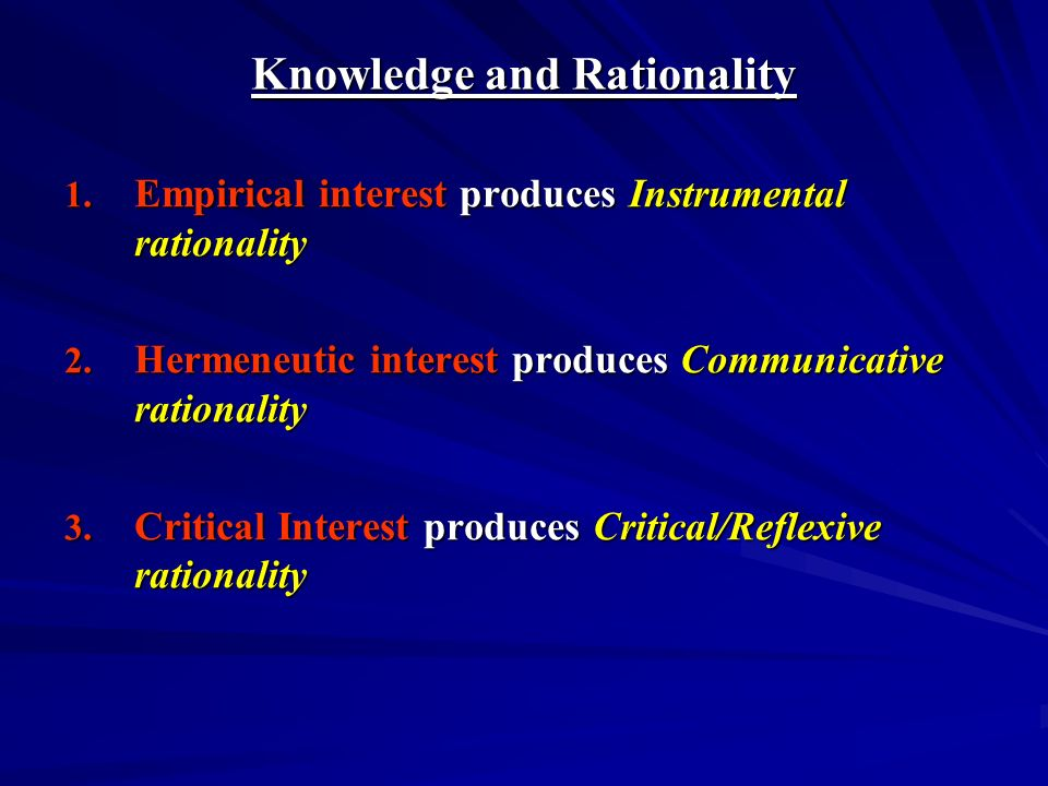Knowledge and Rationality