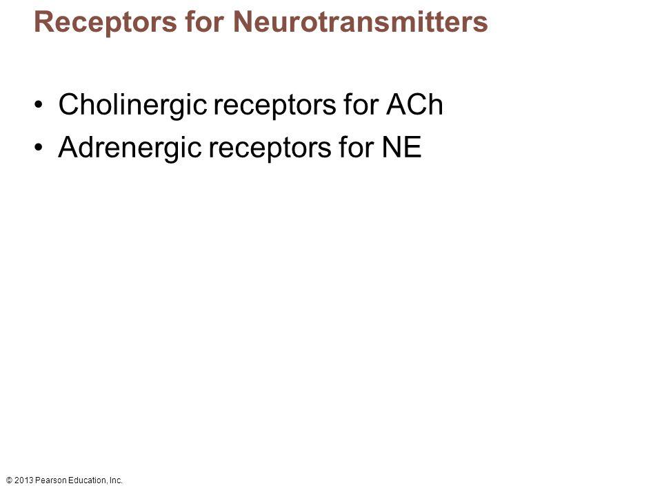 Receptors for Neurotransmitters