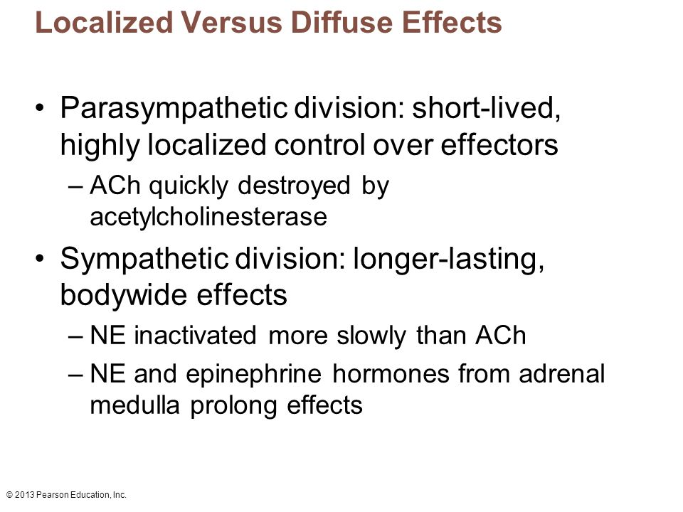 Localized Versus Diffuse Effects