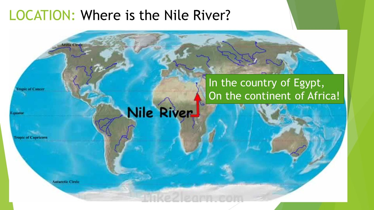 Reviewing The Themes Of Geography Egypt Gift Of The Nile - Nile river on world map
