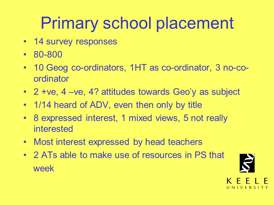 Primary school placement