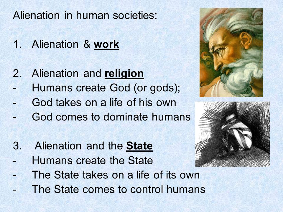 Alienation in human societies: