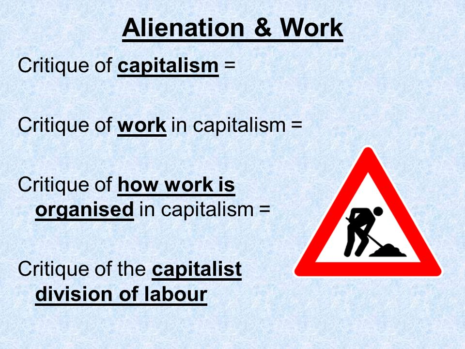 marx alienated labor essay An introduction to marx's theory of alienation judy cox we live in a world where technological achievements unimaginable in previous.