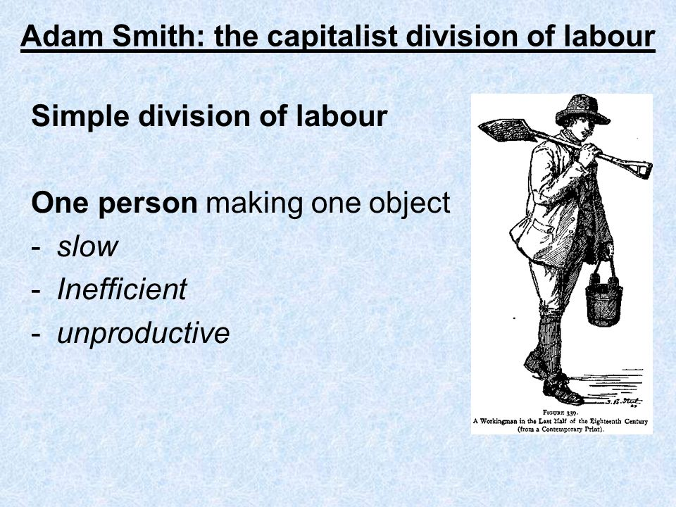 Adam Smith: the capitalist division of labour