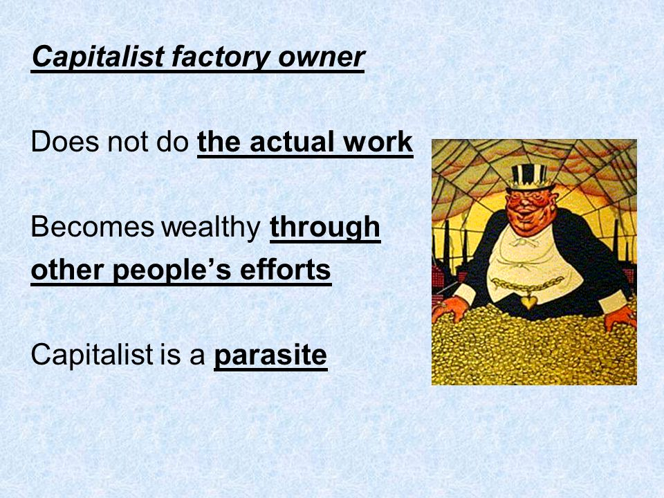 Capitalist factory owner
