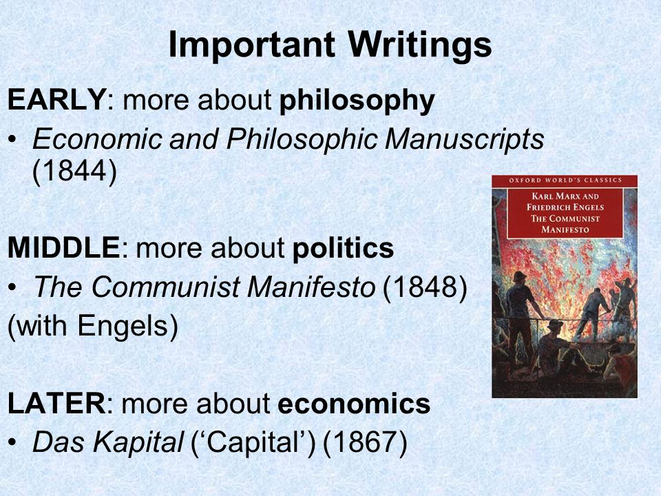 Important Writings EARLY: more about philosophy