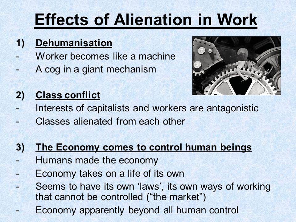 Effects of Alienation in Work