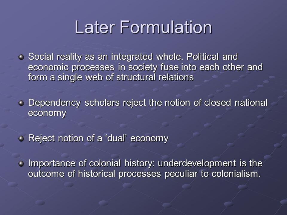Later Formulation