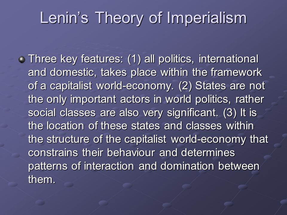 Lenin's Theory of Imperialism
