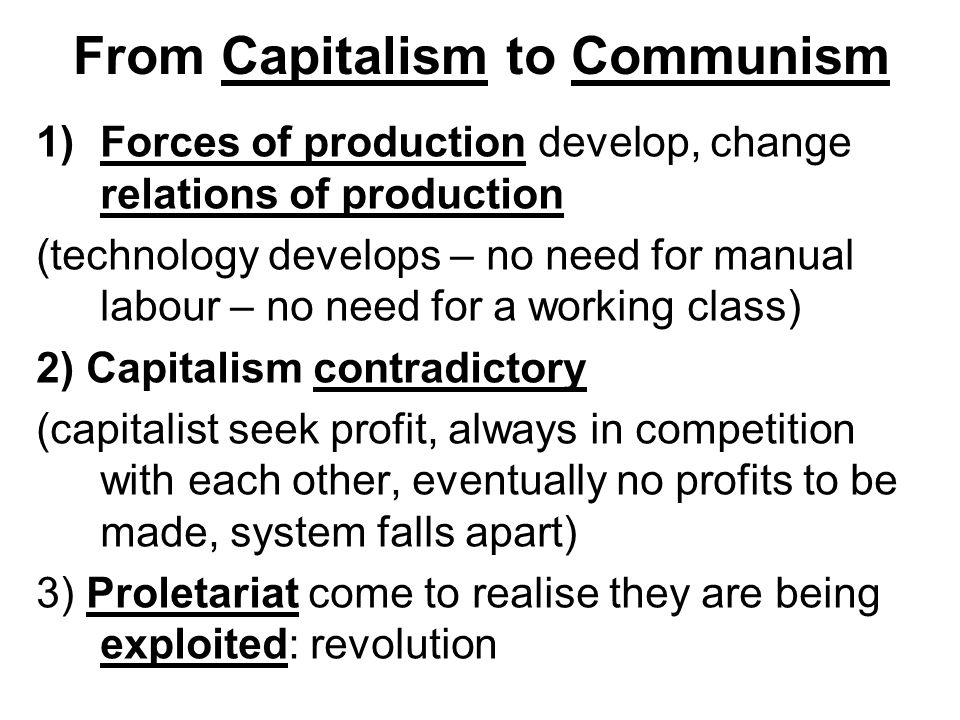 From Capitalism to Communism