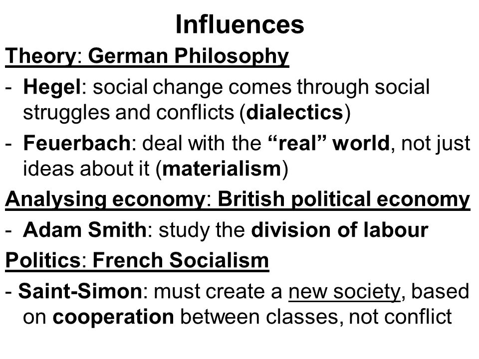 Influences Theory: German Philosophy
