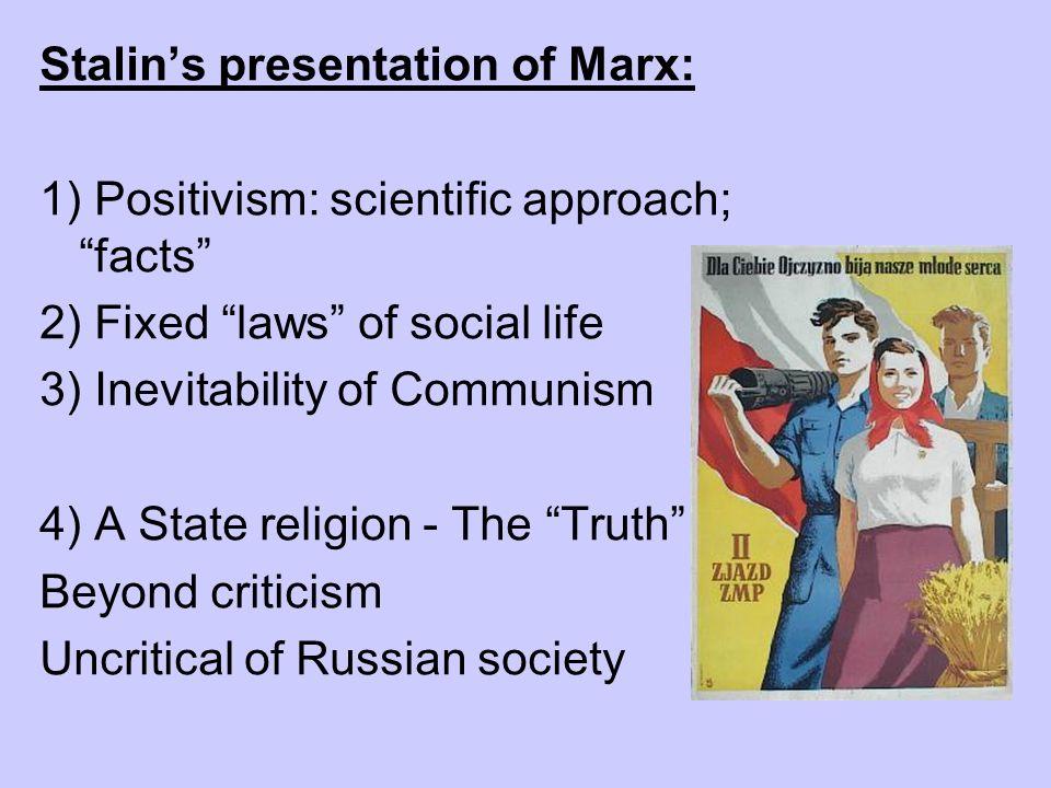 Stalin's presentation of Marx: