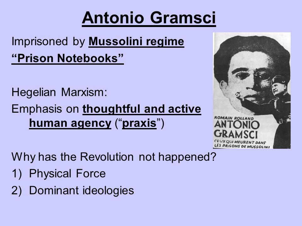 Antonio Gramsci Imprisoned by Mussolini regime Prison Notebooks